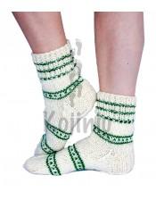 Rankų darbo vilnonės kojinės